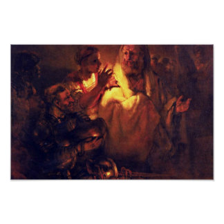 Apostle Peter Denies Christ,  By Rembrandt Harmens Posters