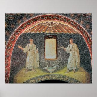 Apostles, 5th century (mosaic) poster