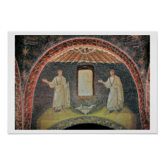 Apostles 5th century mosaic poster
