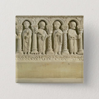 Apostles under Arcades, carved relief, c.1150 (sto 15 Cm Square Badge