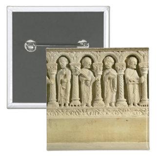 Apostles under Arcades, carved relief, c.1150 (sto 15 Cm Square Badge