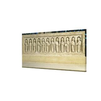 Apostles under Arcades, carved relief, c.1150 (sto Canvas Print