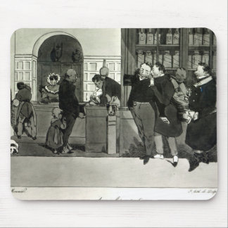 Apothecary, engraved by Delpech Mouse Pad
