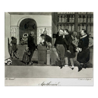Apothecary, engraved by Delpech Poster