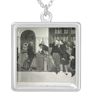 Apothecary, engraved by Delpech Silver Plated Necklace