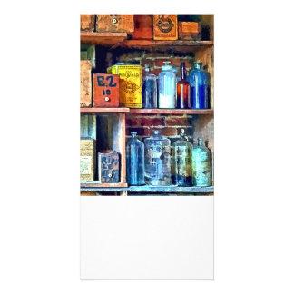Apothecary Stockroom Customized Photo Card