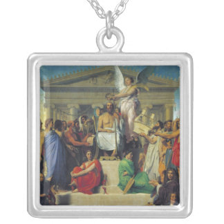Apotheosis of Homer, 1827 Silver Plated Necklace