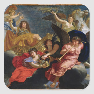 Apotheosis of King Louis XIV of France Square Sticker