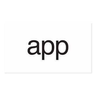 app business card templates