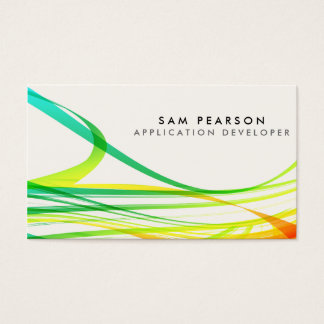 App Developer Colorful Abstract Flowing Streamers