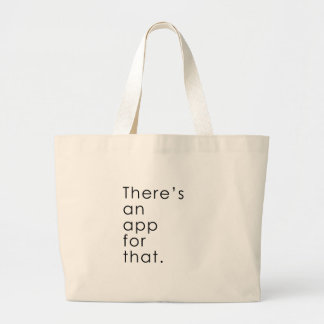 App for that jumbo tote bag