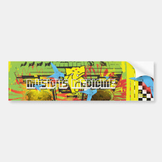 APPA :: MUSIC IS MEDICINE (( DEUX )) BUMPER STICKER