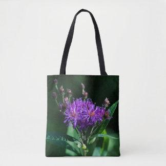 Appalachian Ironweed Purple Wildflower Tote Bag
