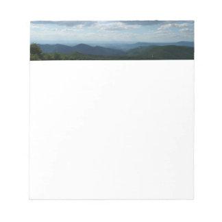 Appalachian Mountains II Shenandoah Notepad