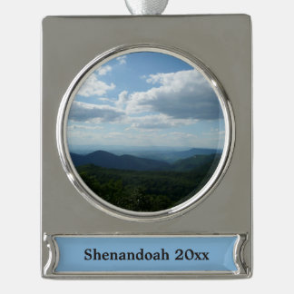 Appalachian Mountains II Shenandoah Silver Plated Banner Ornament