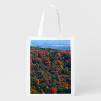 Appalachian Mountains in Fall Colorful Nature Reusable Grocery Bag