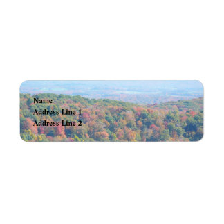 Appalachian Mountains in Fall Nature Photography Return Address Label