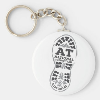 Appalachian National Scenic Trail Basic Round Button Key Ring