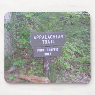 appalachian trail footpath sign mouse mat