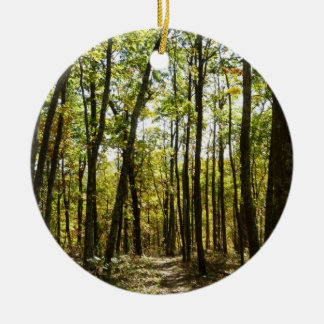 Appalachian Trail in October at Shenandoah Round Ceramic Decoration