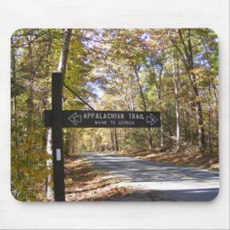 appalachian trail sign pennsylvania fall mouse mat