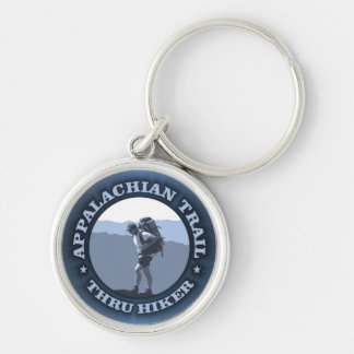 Appalachian Trail -Thru Hiker Silver-Colored Round Key Ring