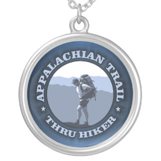 Appalachian Trail -Thru Hiker Silver Plated Necklace