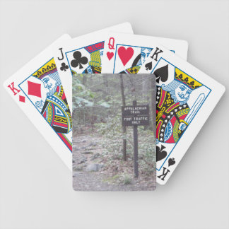 appalachian trail woods bicycle playing cards
