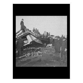 Appalling Accident at Farmington River  (B&W) Postcard