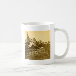 Appalling Accident at Farmington River (Sepia) Basic White Mug