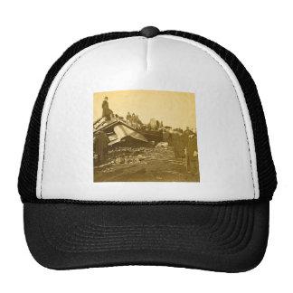 Appalling Accident at Farmington River (Sepia) Hats