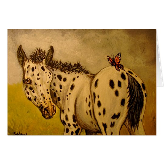 Appaloosa Foal & Butterfly Card