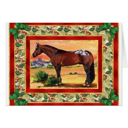 Appaloosa Horse Blank Christmas Card