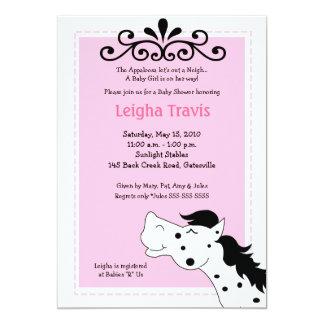 Appaloosa Horse Girl 5x7 Baby Shower Invitation