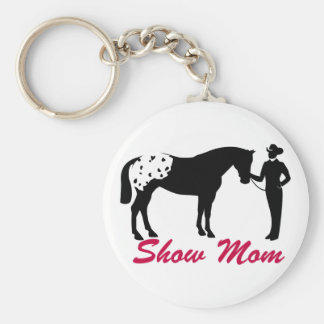 Appaloosa Horse Show Mom Basic Round Button Key Ring