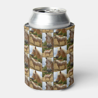 Appaloosa Horses Photo Collage, Can Cooler