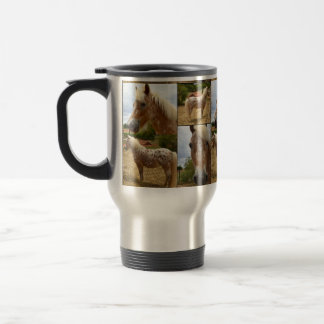 Appaloosa Horses, Photo Collage Commuter Mug. Travel Mug