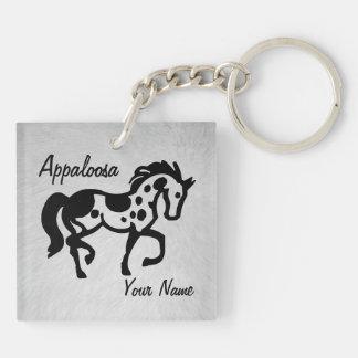 Appaloosa Keykeeper Double-Sided Square Acrylic Key Ring