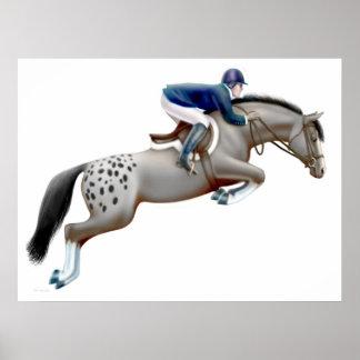 Appaloosa Show Jumping Horse Print