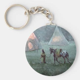 APPALOOSA & TIPI by SHARON SHARPE Basic Round Button Key Ring
