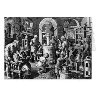Apparatus of Distillation in Alchemy Greeting Card