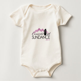 Apparel, coffee mugs, concerts at sundance baby bodysuit