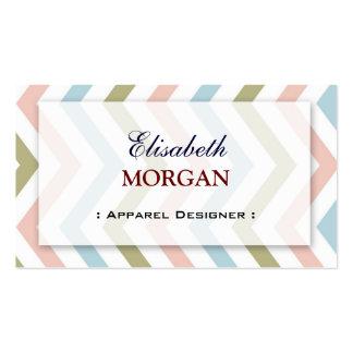 Apparel Designer - Natural Graceful Chevron Business Card Templates