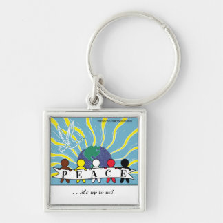APPAREL, ETC:  WORLD PEACE SQUARE KEYCHAIN