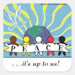 APPAREL, ETC:  WORLD PEACE STICKERS