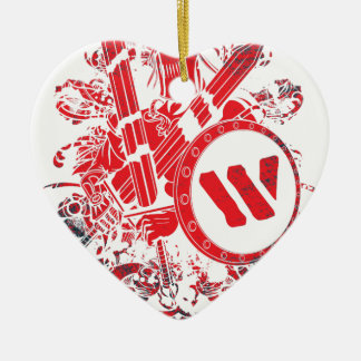 Apparel Mega Battle Warrior Fighter Ceramic Heart Decoration