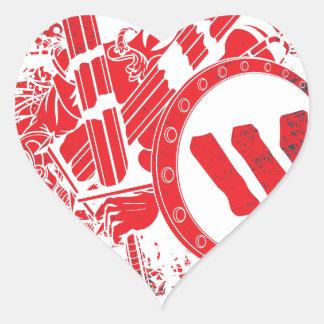 Apparel Mega Battle Warrior Fighter Heart Sticker