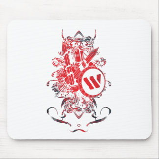 Apparel Mega Battle Warrior Fighter Mouse Mat