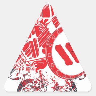 Apparel Mega Battle Warrior Fighter Triangle Sticker
