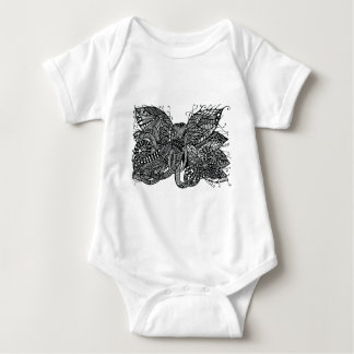 Apparel printed with hand drawn hybrid elephant shirts